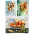 Рисовая бумага для декупажа 160538 Физалис и персики, А4, Бижу-Мастер, Россия
