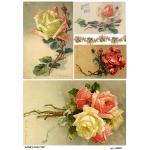 Рисовая бумага для декупажа Нежные розы, А4, Бижу-Мастер, Россия