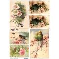 Рисовая бумага для декупажа 160622 Птицы на цветущей ветке, А4, Бижу-Мастер, Россия