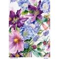 Рисовая бумага для декупажа 160631 Акварельные цветы, А4, Бижу-Мастер, Россия