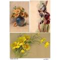 Рисовая бумага для декупажа 160634 Весенние цветочки, А4, Бижу-Мастер, Россия