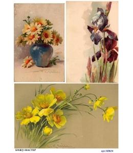 Рисовая бумага для декупажа 160634 Весенние цветочки, А4, Россия