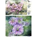 Рисовая бумага для декупажа 160637 Сиреневые цветы, А4, Бижу-Мастер, Россия