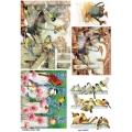 Рисовая бумага для декупажа 160639 Птицы на заборе, А4, Бижу-Мастер, Россия