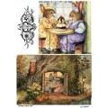 Рисовая бумага для декупажа 160659 Мышки, А4, Бижу-Мастер, Россия