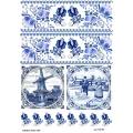 Рисовая бумага для декупажа Синий орнамент, А4, Бижу-Мастер, Россия