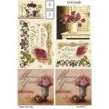Рисовая бумага для декупажа Цветы и орнамент, А4, Бижу-Мастер, Россия