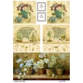 Рисовая бумага для декупажа Натюрморты с орхидеями, А4, Бижу-Мастер, Россия
