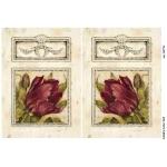 Рисовая бумага для декупажа Тюльпаны в рамке, А4 Бижу-Мастер Россия
