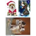Рисовая бумага для декупажа Санта и собаки, А4, Бижу-Мастер, Россия