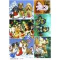 Рисовая бумага для декупажа Год собаки, А4, Бижу-Мастер, Россия