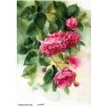 Рисовая бумага для декупажа Акварельные розы, А4, Бижу-Мастер, Россия