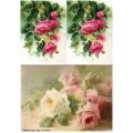 Рисовая бумага для декупажа Розовые розы, А4, Бижу-Мастер, Россия