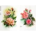 Рисовая бумага для декупажа Красивые розы, А4, Бижу-Мастер, Россия