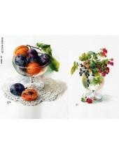 Рисовая бумага для декупажа Натюрморты из фруктов и ягод, А4, Россия