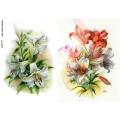 Рисовая бумага для декупажа Цветок лилии, А4, Бижу-Мастер, Россия