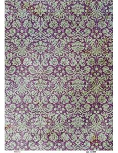 Рисовая бумага для декупажа Сиреневый фон барокко, А4,  Россия