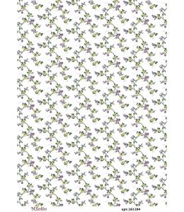 Рисовая бумага для декупажа Мелкие цветочки, А4,  Россия
