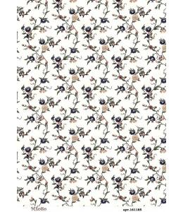 Рисовая бумага для декупажа Плетистые цветы, А4,  Россия
