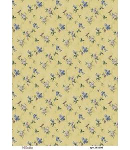 Рисовая бумага для декупажа Плетистые синие цветы, А4,  Россия