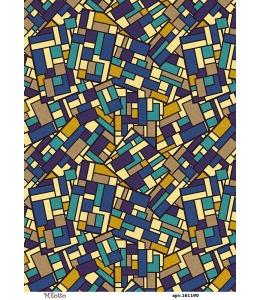 Рисовая бумага для декупажа Геометрический фон, А4,  Россия
