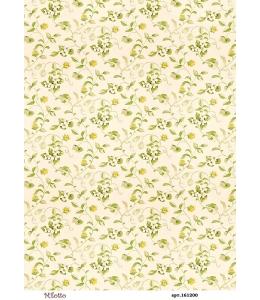 Рисовая бумага для декупажа Фон с белыми цветами, А4,  Россия