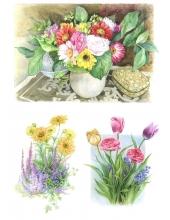 Рисовая бумага для декупажа AD002 Цветы в вазе, А4