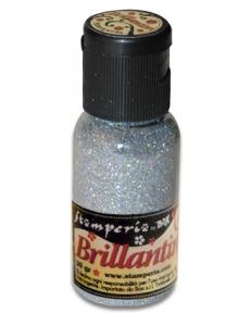 Микроблестки, цвет №30 мерцающее серебро, Stamperia (Италия), 20гр