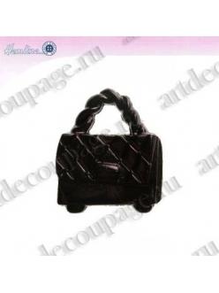 Декоративные пуговицы Дамская сумочка, черный пластик, 4 шт., HEMLINE