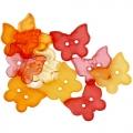 """Декоративные пуговицы """"Бабочки разноцветные"""", серия Favorite Findings, Button Fashion"""