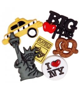 "Декоративные пуговицы ""Нью-Йорк"", серия Favorite Findings, Button Fashion"