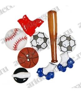 "Декоративные пуговицы набор ""Fun & Games"" бейсбол, Button Fashion"