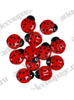 "Декоративные пуговицы ""Божьи коровки"" (Ladybugs), серия Favorite Findings, Button Fashion"