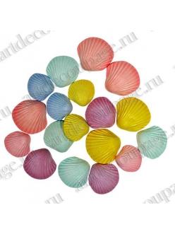 Декоративные пуговицы Морские раковины разноцветные, 17 шт.,Button Fashion