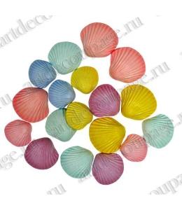 """Декоративные пуговицы """"Морские раковины разноцветные"""", серия Favorite Findings, 17 шт.,Button Fashion"""