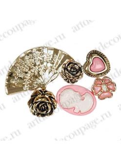 Декоративные пуговицы Старые времена, Button Fashion