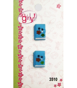 """Декоративные объемные пуговицы """"Книга"""", серия So Girly, 2 шт., Button Fashion"""