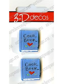 """Декоративные объемные украшения """"Cook Book"""", серия 3D decor, 2 шт., Button Fashion"""
