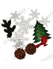 """Декоративные пуговицы """"Зимняя ель"""" серия La Mode Christmas, Blumenthal Lansing"""