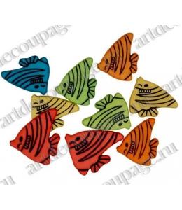 """Декоративные пуговицы """"Разноцветные рыбки"""", серия Favorite Findings, Button Fashion"""