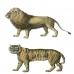 Переводная карта, трансфер Лев и тигр, 12х17 см, Cadence CD-820
