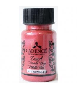 Краска Dora Metallic Paint красный, 50 мл, Cadence
