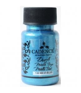 Краска Dora Metallic Paint темно голубой, 50 мл, Cadence