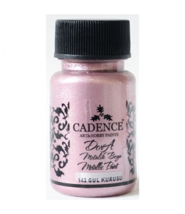 Краска Dora Metallic Paint сухая роза, 50 мл, Cadence