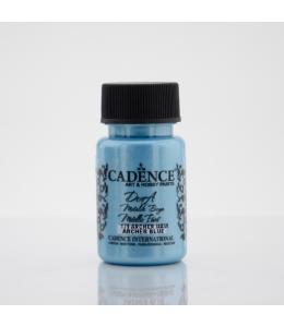 Краска Dora Metallic Paint синий цветок, 50 мл, Cadence