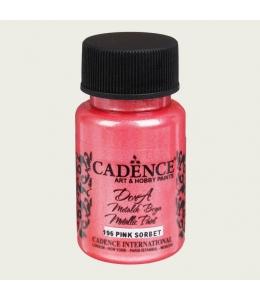 Краска Dora Metallic Paint розовый щербет, 50 мл, Cadence