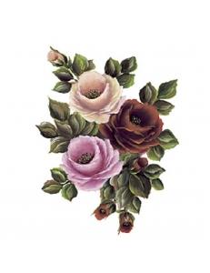 """Переводная карта, трансфер Cadence G-158 """"Три розы"""", 17х25 см"""