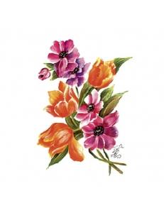 """Переводная карта, трансфер Cadence G-038 """"Букет тюльпанов"""", 17х25 см"""