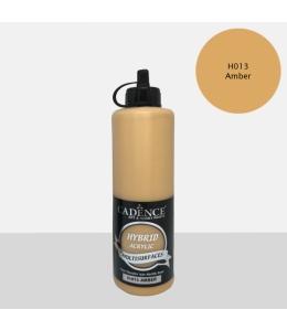 Гибридная акриловая краска Hybrid Acrylic 13 янтарный, 500 мл, Cadence