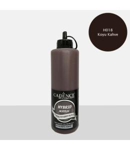 Гибридная акриловая краска Hybrid Acrylic 18 темный кофе, 500 мл, Cadence